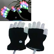 Luwint LED Colorful Flashing Finger Lighting Gloves with