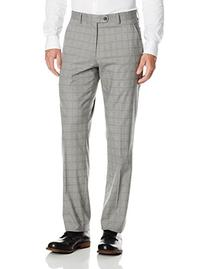 Perry Ellis Men's Flat Front Suit Separate Pant, Grey,
