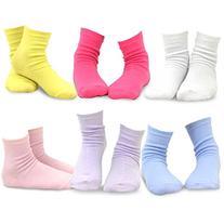 Naartjie Girls Solid Flat Knit Short Crew Sock 6 Pairs Pack