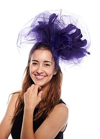 Flaunt It Feathered Fascinator Cocktail Hat with Headband,