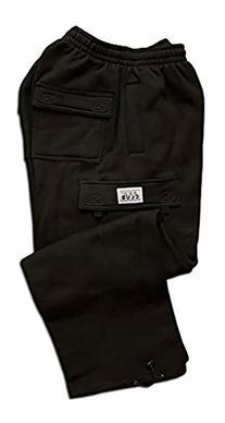 Pro Club Fleece Cargo Sweatpants 13.0oz 60/40 Large Black
