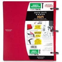 Five Star Flex Red NoteBinder, 1-Inch Capacity, 11.5 x 11
