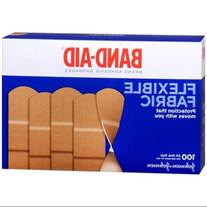 BAND-AID Flexible Fabric All One Size Adhesive Bandages 100