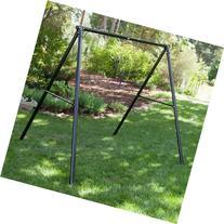Flexible Flyer Metal Lawn Swing Frame Black