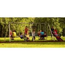 Flexible Flyer Play Park Swing Set w/ Slide, Swings, Air-