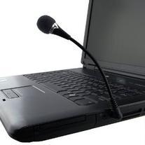 SODIAL Mini 3.5mm Flexible Microphone for PC/Laptop/Skype