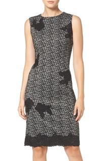 Women's Taylor Dresses Floral Applique Jacquard Sheath Dress