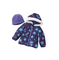 London Fog® Baby Girls' Floral Puffer Jacket