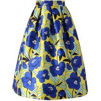 Chicwish Flower Picking Printed Midi Skirt