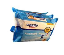 Equate Flushable Fresh Scent Wipes, 144 count