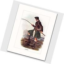 Gordon Clan, Highlands Dress Art w/Mat  --- Matted Print