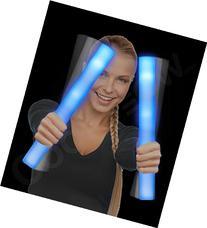 Fun Central LED Foam Stick Baton Supreme, Blue, 6 Piece