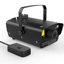 1byone Halloween Fog Machine with Wired Remote Control, 400-Watt Fog Machine, Black