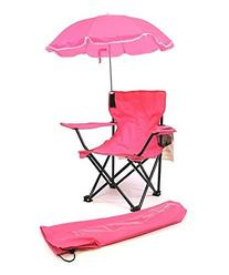 Redmon Kids Size Folding Camp Chair, Pink, 1 ea