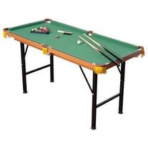 HomCom Folding Miniature Billiards Pool Table w/ Cues and