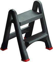 Folding Rubbermaid Curver Plastic 2 Step Stool - Mini Ladder