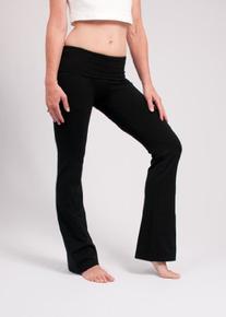 Hard Tail Foldover Bootcut Yoga Pants with Hard Tail Logo -