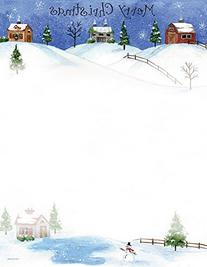 Folk Art Village Stationery - 80 Sheets