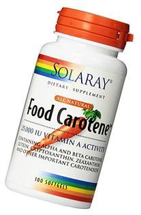 Solaray Food Carotene Capsules, 25000IU, 100 Count