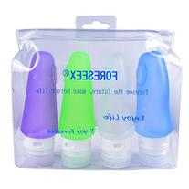 FORESEEX 4-pack 3oz Food Grade Colorful Silicone Travel