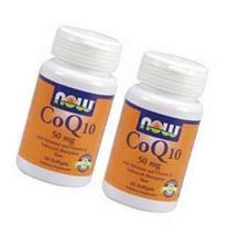 Now Foods Coq10 50mg Twinpack, 2x50 Softgels
