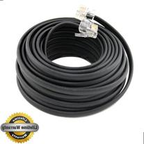 BoostWaves 50' Foot Black Telephone Extension Cord Cable
