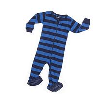 Leveret Kids Striped Baby Boys Footed Pajamas Sleeper 100%
