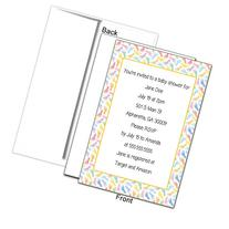 Baby Footprints Personalized Baby Shower Invitation - Gender