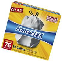 Glad ForceFlex Drawstring Tall Kitchen Trash Bags, Unscented