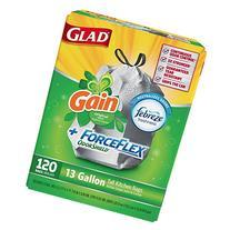 Glad ForceFlex Tall Kitchen 13 Gallon Trash Bag With Odor