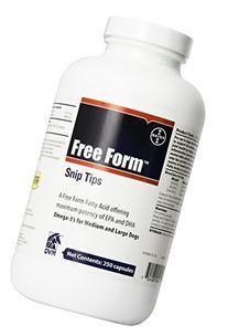 Bayer Free Form Snip Tips Gel Capsules, Omega-3 Fish Oil,