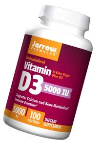 Jarrow Formulas - Vitamin D3, 5000, 100 softgels
