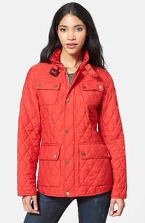 Women's London Fog Four-Pocket Quilted Jacket