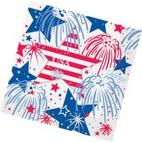 Fourth of July Fireworks Luncheon Napkins, 16pk