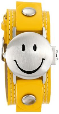 Frenzy Kids' FR282 Smiley Face Analog Yellow Strap Watch