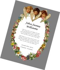 Framed Angel Birth Announcement