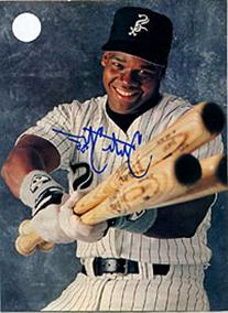 Frank Thomas Autographed/Signed Magazine Page