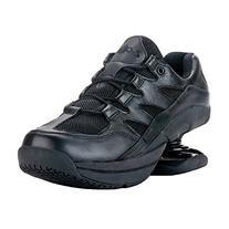 Z-CoiL Men's Freedom Slip Resistant Black Leather Tennis
