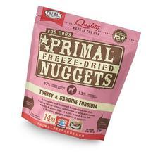 Primal Pet Foods Freeze-Dried Canine Turkey and Sardine