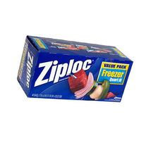 Ziploc Freezer Bags Value Pack, Quart Size, 40-pack