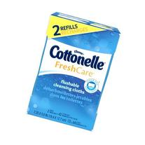 Cottonelle Fresh Care Flushable Cleansing Cloths Refill, 8