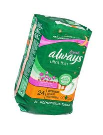 Always Fresh Ultra Thin Flex-Wings Overnight Pads 24 CT