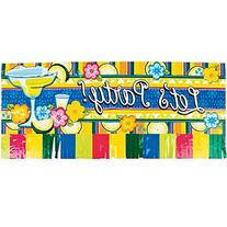 """Let's Party!"" Fringed Banner"