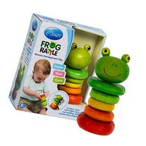 Frog Rattle by Svan - Made from All Natural Wood - Perfect for Baby Shower Gift, Your Baby Nursery