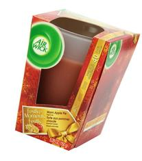 Air Wick Frosted Scented Candle, Apple Cinnamon Medley, 5.29