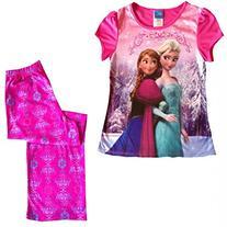 DISNEY Frozen Girl Anna and Elsa Short Sleeve Pajama Set, S