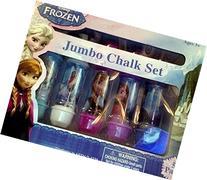 Disney Frozen 5 PC Jumbo Chalk Set Adjustable Draw and Play
