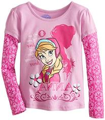 Girls  Disney Frozen Love Anna T-Shirt 4, Purple