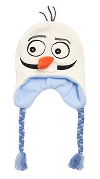Disney Girls Frozen Olaf Knit Scandinavian Hat - Size 4-7