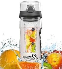 Danum Fruit Infuser Water Bottle - Large 32 oz Flip Top -